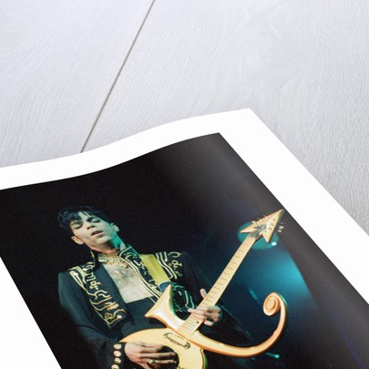 Prince performing on stage during his 'Ultimate Live Experience Tour' by Richard Nelmes