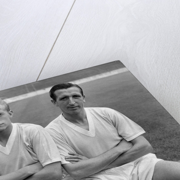 Denis Law and Ken Barnes by Anonymous
