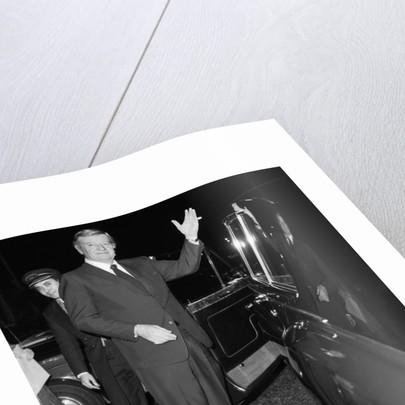 John Wayne leaving the Ambassadeurs Club in Hamilton Place by Arthur Murray