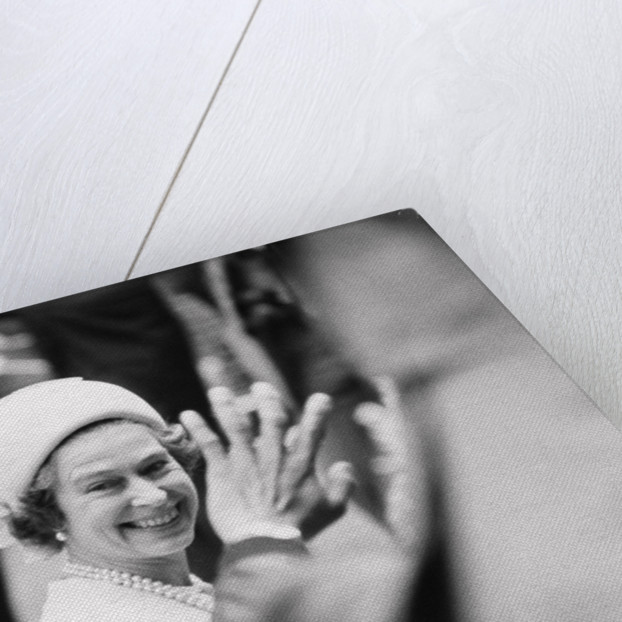 Her Majesty Queen Elizabeth II is greeted by enthusiastic crowds by Anonymous