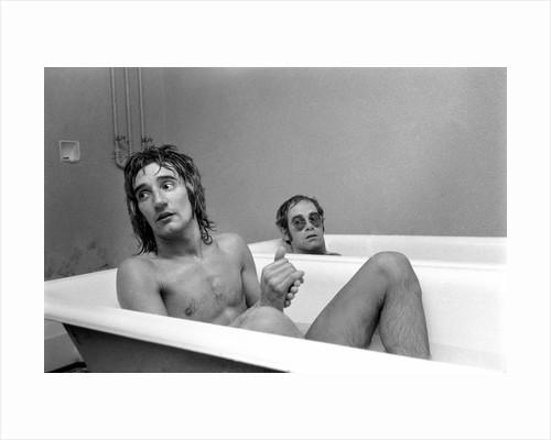 Elton John and Rod Stewart having bath by Anonymous