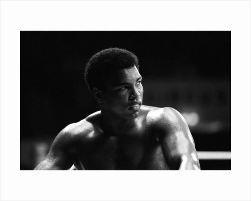 Muhammad Ali at his training camp in Munich. by Staff