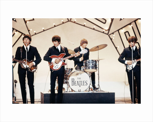 The Beatles in television studio by Staff