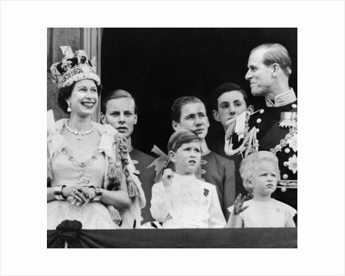 Royal Family on Balcony at Buckingham Palace by Daily Mirror