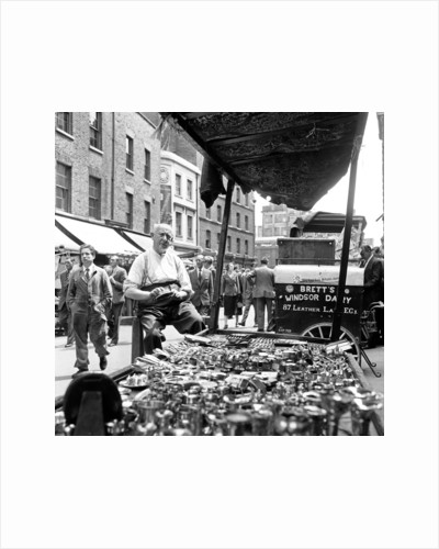 Leather Lane market 1954 by Staff