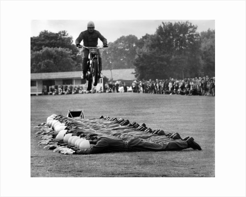 Motor Cycle Body Jump by Staff