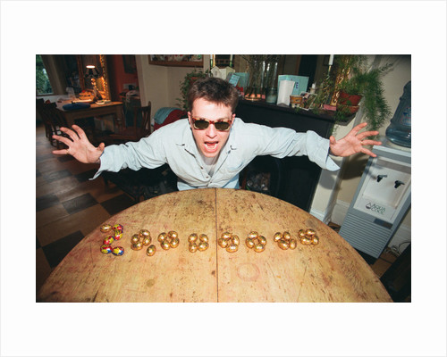 Suggs at Lottery preview 1996 by Ian Vogler