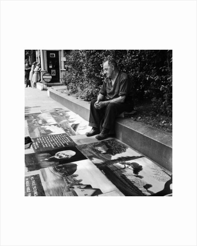 Pavement artist, 1946 by Staff