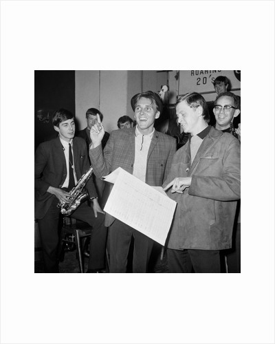 Billy Fury rehearsing with John Barry orchestra. by Arthur Sidey
