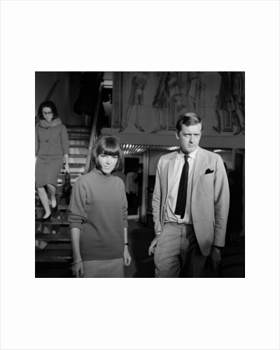 Mary Quant, fashion designer and expert, pictured with her husband Alexander Plunkett-Greene, in their Knightsbridge shop. by Tommy Lea