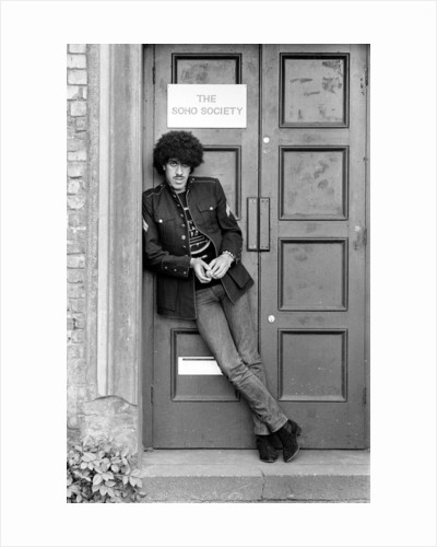 Phil Lynott, singer and bass player with the rock group Thin Lizzy by Peter Stone