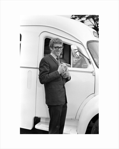 Peter Gilmore on the film set of Carry On Doctor. by Staff