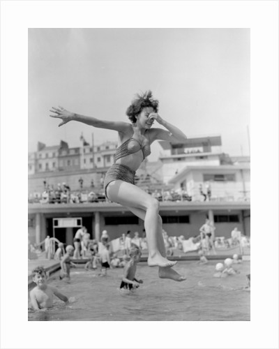 Janet Hamilton takes the plunge at Brighton's outdoor swimming pool by Staff Staff