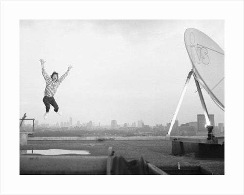 Mick Jagger on the roof of the Daily Mirror building by Anonymous