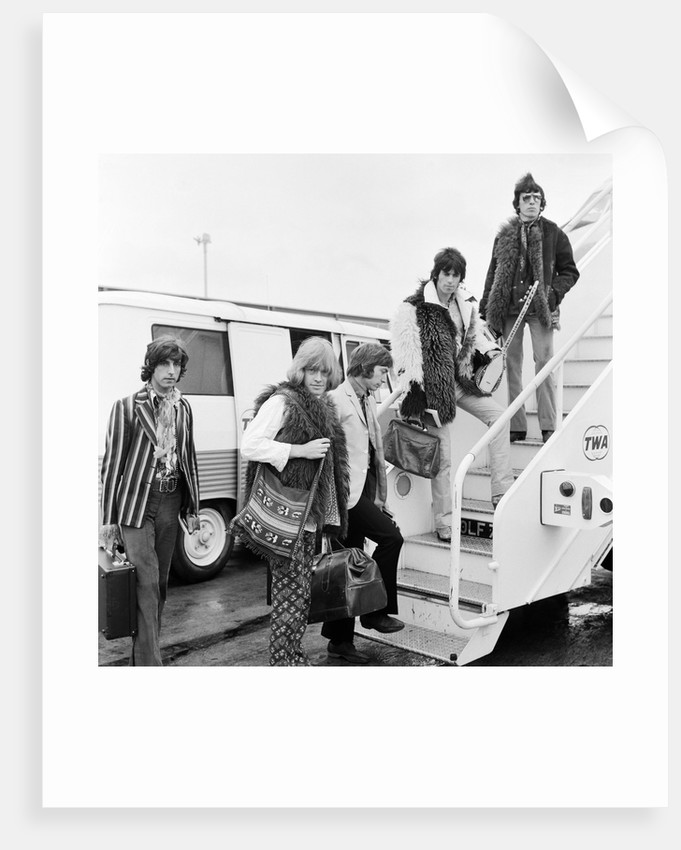 Members of The Rolling Stones heading for New York by Anonymous