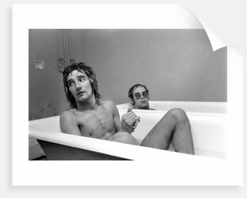 Elton John and Rod Stewart having bath by Anonymous