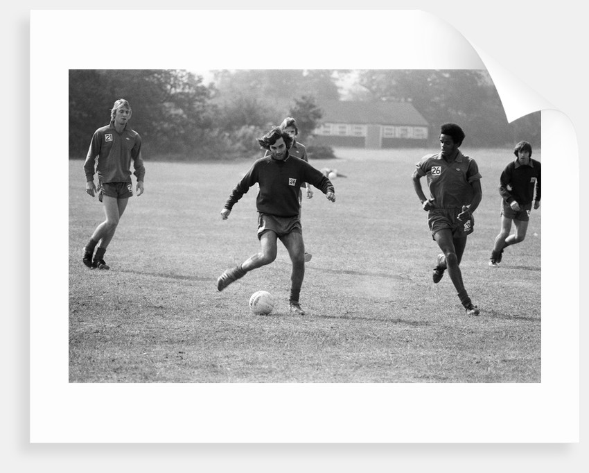 Fulham in training 1.976 by Arthur Sidey