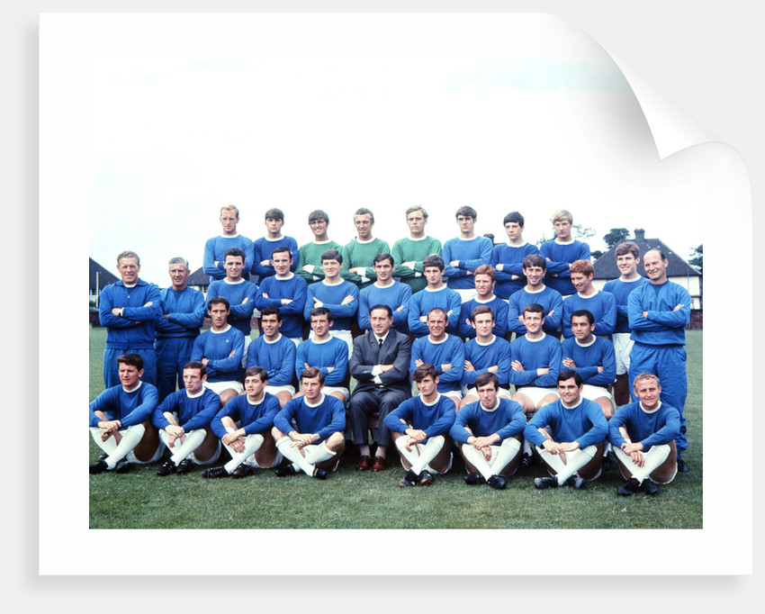 Everton squad pose for a group photograph by Willy Talbot