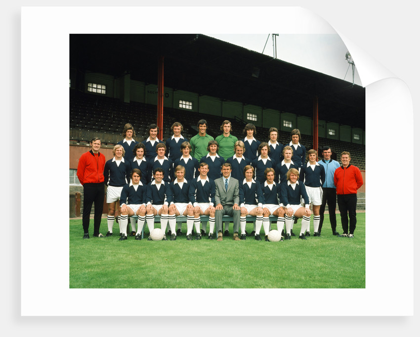 Falkirk F.C. pre season squad photograph 1972 by Daily Record