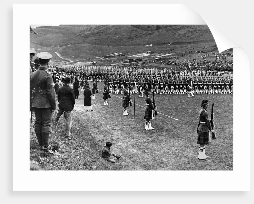 Prince of Wales inspects Seaforth Highlanders by Staff