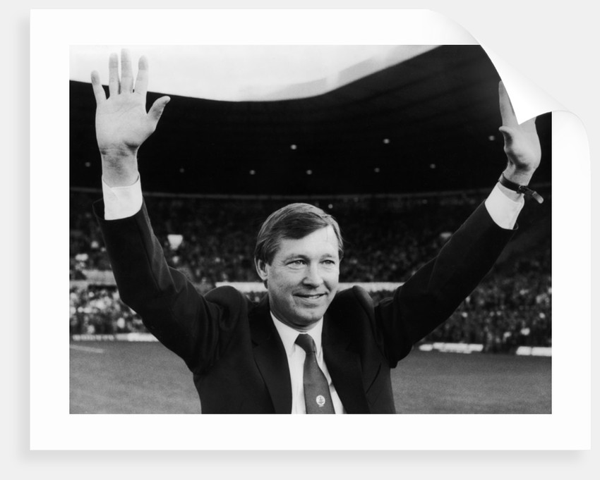 Alex Ferguson waves to the Old Trafford crowd by Phil Richards