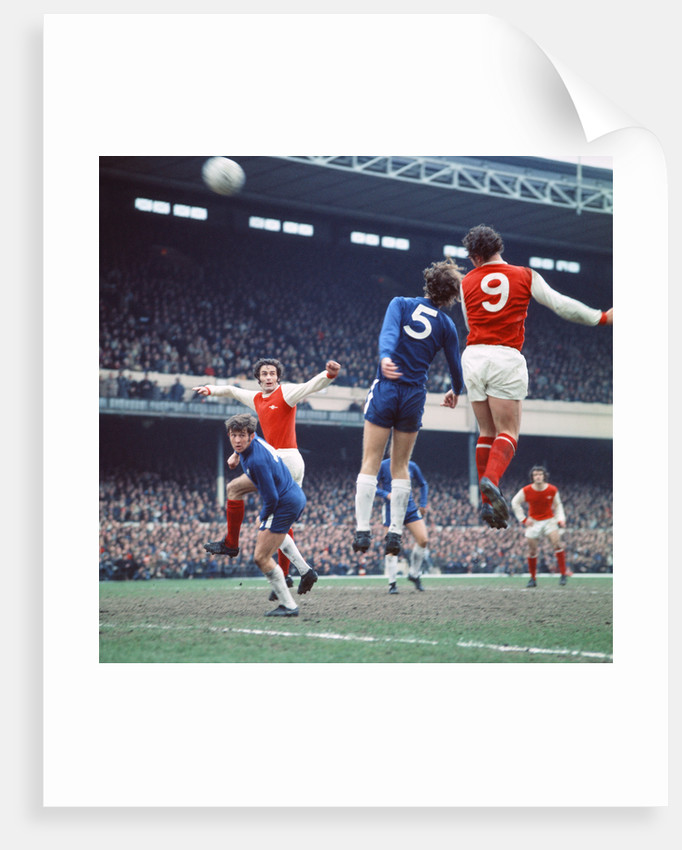 Arsenal v Chelsea league match April 1971. by Staff