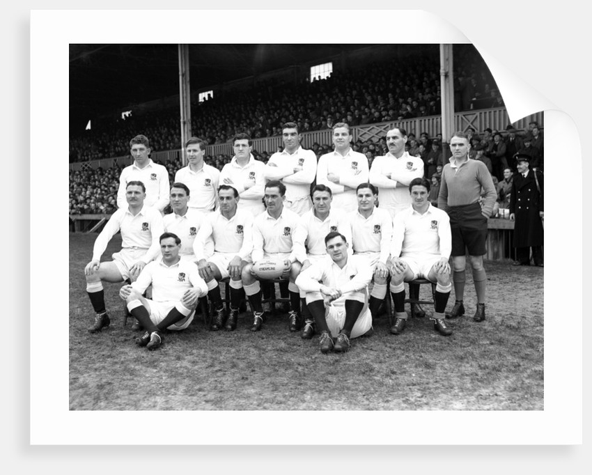 Wales v England St Helen's Ground 1951 by Stephens