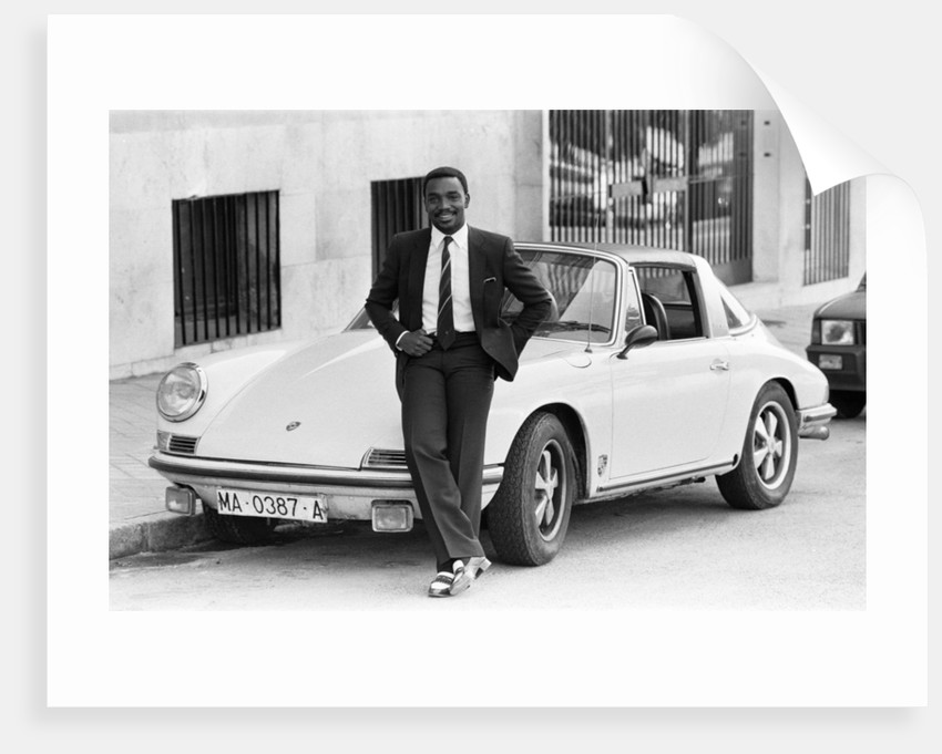 Laurie Cunningham on the streets of Madrid Spain. by Monte Fresco