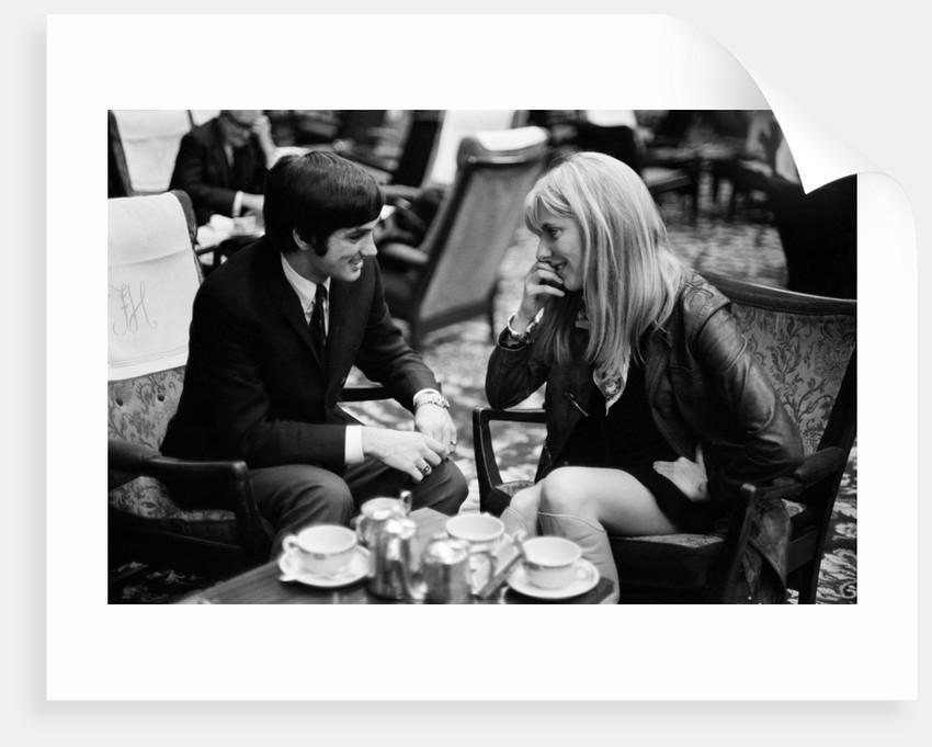 George Best and  girlfriend by Arthur Steel