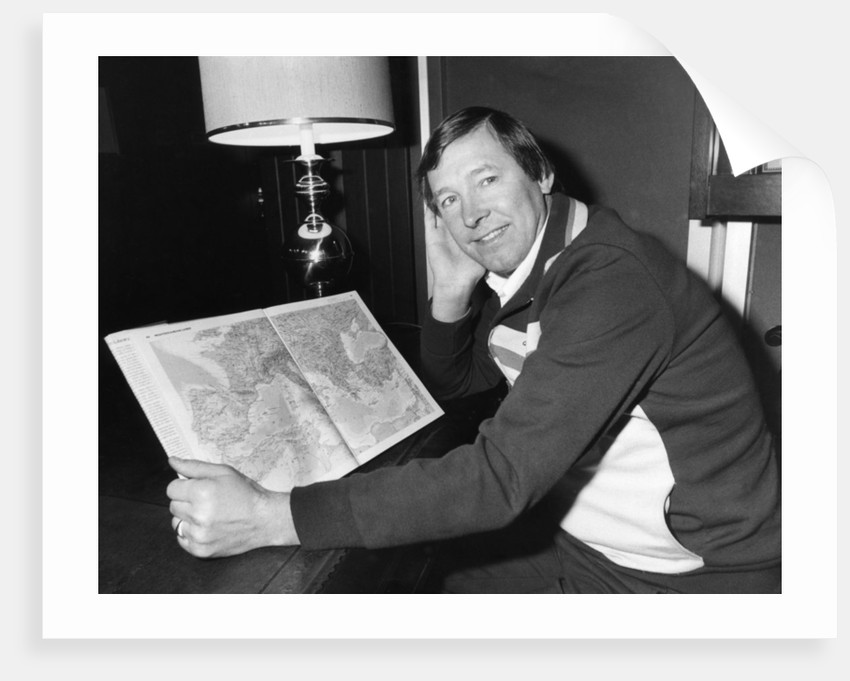 Aberdeen  manager Alex Ferguson 1982 by Randolph Caughie