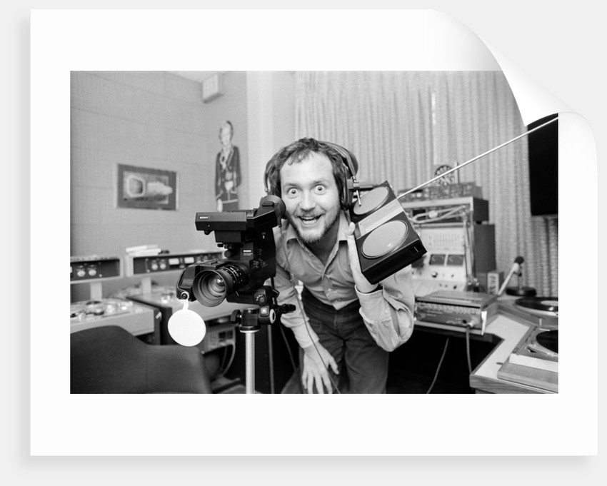 Kenny Everett in studio at home by Wilkinson