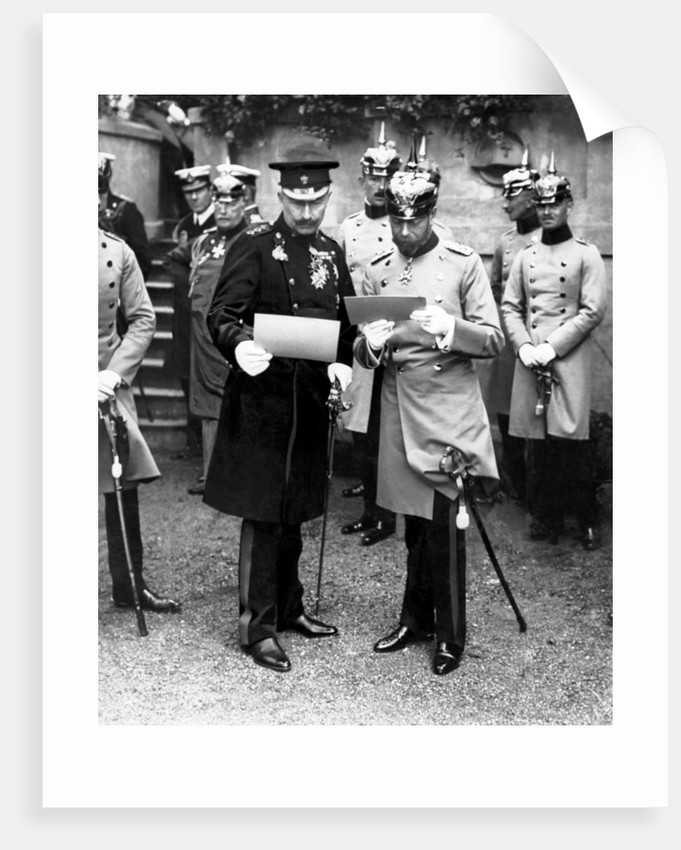 King George V with his cousin the Kaiser 1913 by George Mewes