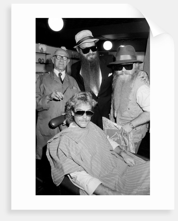 ZZ Top at barbers, Birmingham, 1985 by Burkes