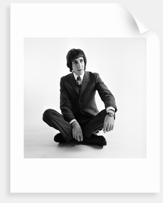 Pete Townshend of the Who wearing smart clothes 1967 by Beverly Goodway