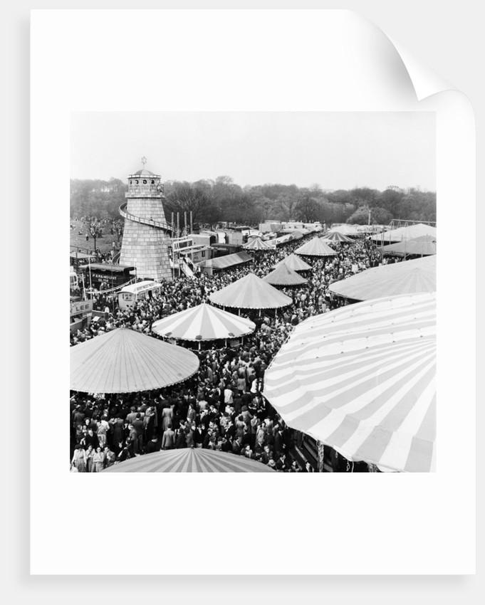 Easter Fair, Hampstead Heath, 1952 by Henry How