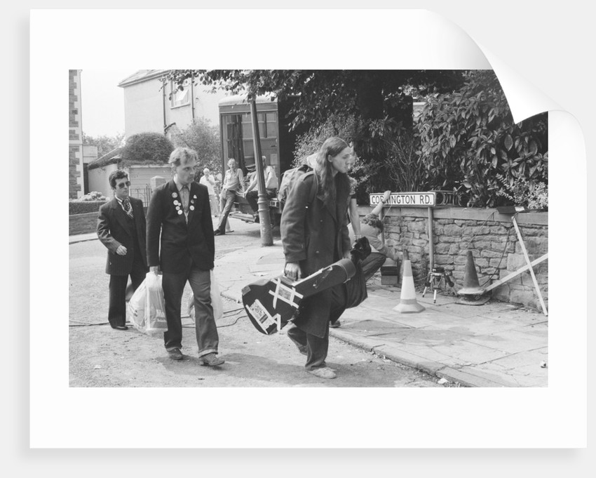 The cast of the Young Ones seen here filming on location at  Codrington Road, Bristol. by Albert Foster