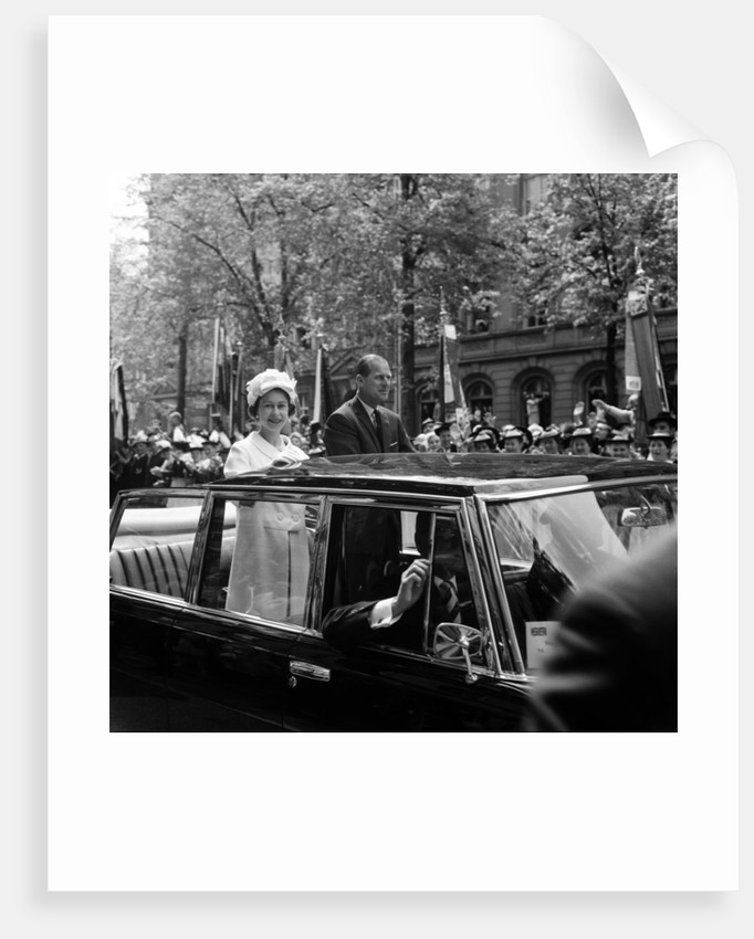 The Queen in West Germany, 1965 by Freddie Reed