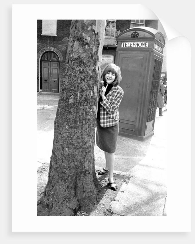 Cilla Black at a playground in May 1964 by Harry Fox