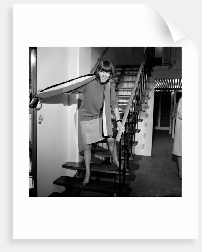 Mary Quant, fashion designer and expert, pictured in her Knightsbridge Shop. by Tommy Lea