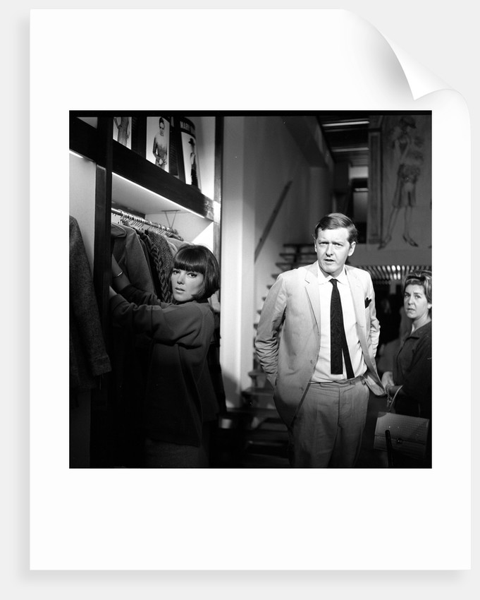 Mary Quant, fashion designer and expert, pictured with her husband Alexander Plunkett-Greene, in their Knightsbridge shop. by Lea