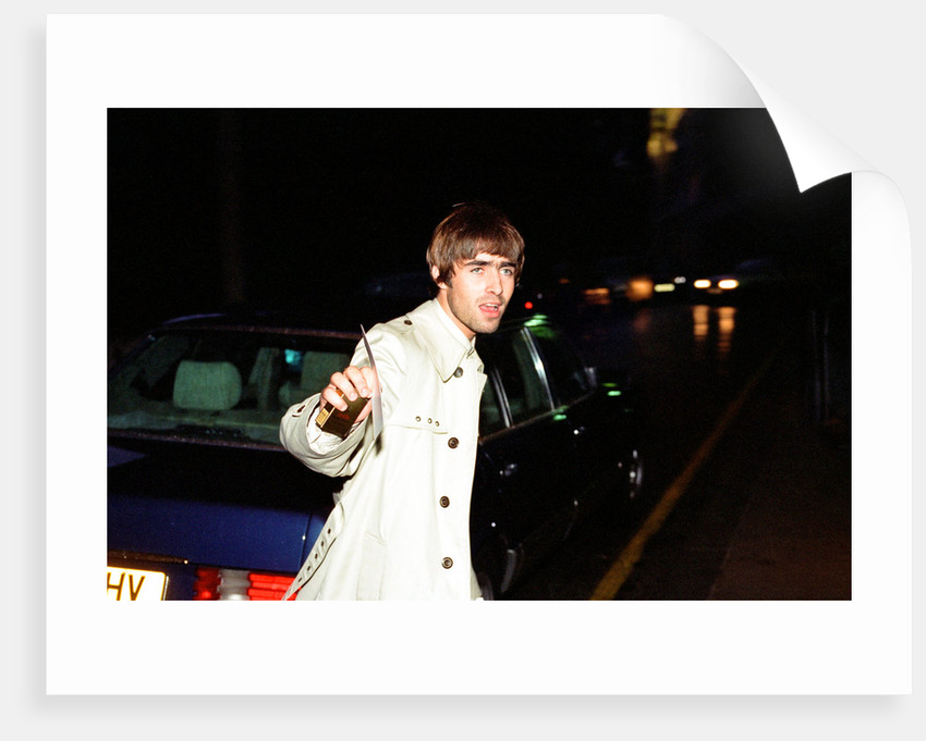Liam Gallagher of Oasis arriving for The Mercury Pop Awards by Steve King