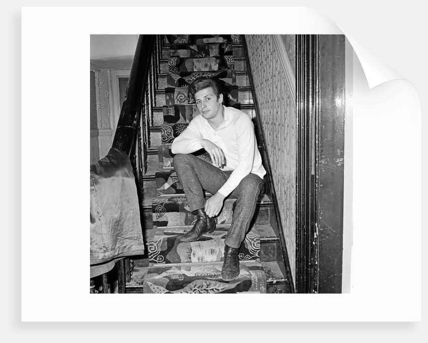 Pete Best, former Beatles drummer, at home in Liverpool in 1965 ...