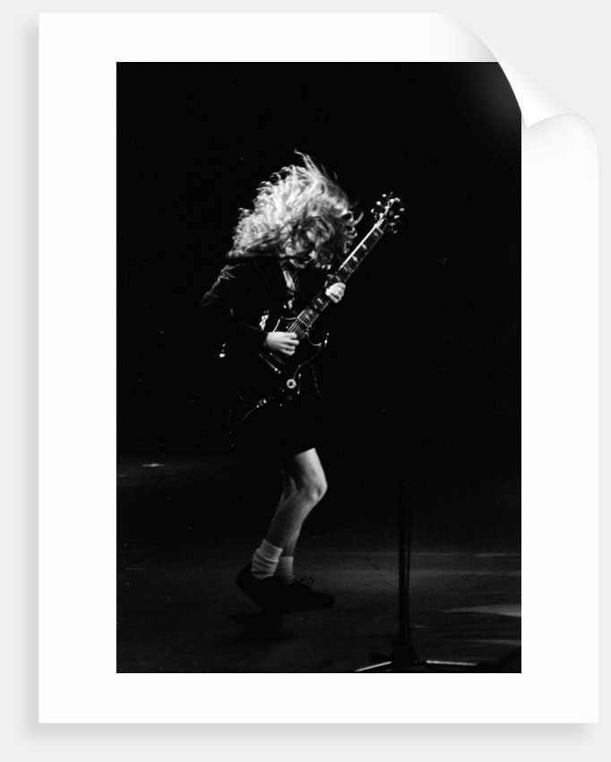Angus Young from the group ACDC by Staff