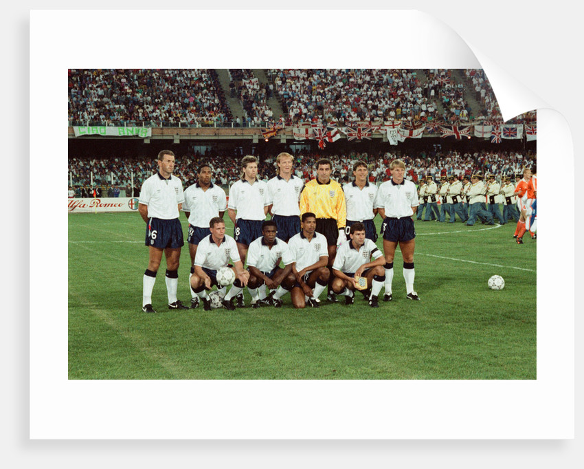 1990 World Cup First Round Group F match in Cagliari, Italy. England 0 v Holland 0. by Albert Cooper