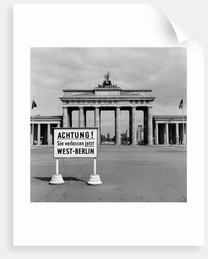East-West Berlin border by Terry Fincher