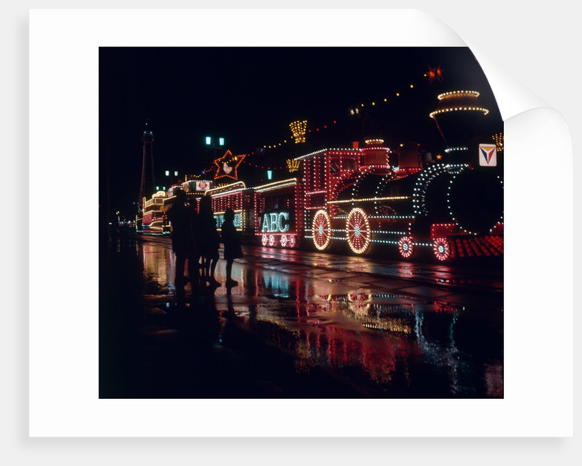 Night time view of the Blackpool illuminations by Anonymous