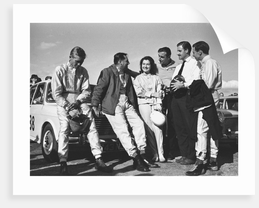 Christabel Carlisle with some of the world's best male drivers by Staff