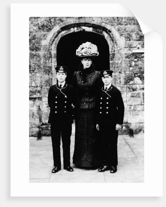 Queen Mary with Prince Edward and Prince Albert by Staff