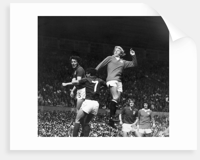 Denis Law seen here in action against Ipswich at Old Trafford by Staff