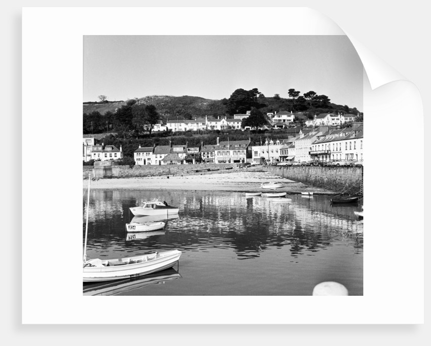 Gorey Harbour on the island of Jersey by Anonymous